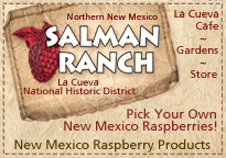 La Cueva National Historic District, Northern New Mexico, Raspberry Products. Pick your own raspberries at Salman Ranch