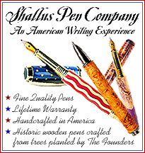 Beautiful handcrafted pens in stone and wood. Fountain pens and rollerball pens made in America Rollerball pens made in America